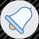 alarm, bell, notif, notification, school bell, sound icon