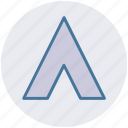 beach, camping, event, teepee, tent house, tents icon