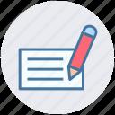 dairy, dairy and pencil, jotter, log pad, notepad, steno pad, writing pad icon
