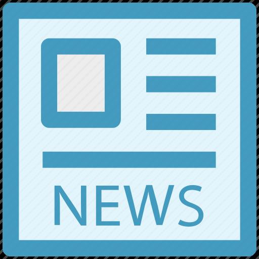 media, news, news article, news blog, newspaper icon