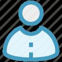 businessman, employee, human, man, people, user icon