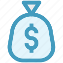 bag, currency sack, dollar bag, dollar sack, money bag, money sack icon