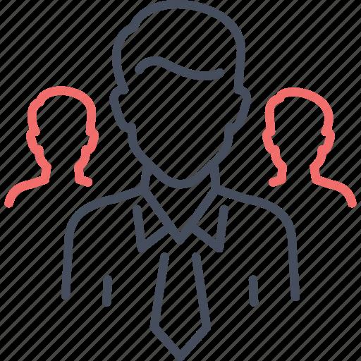 business, businessman, leader, people, team icon