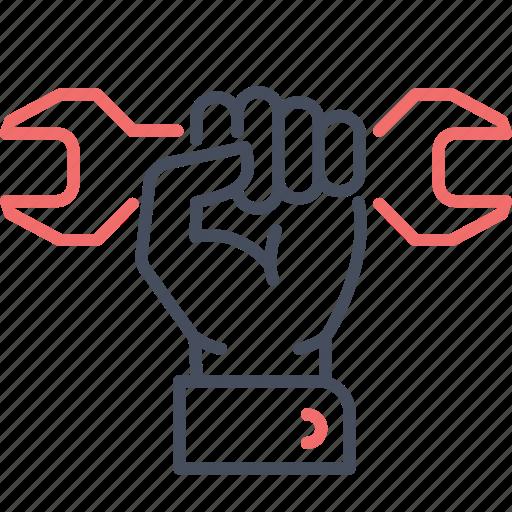 hand, maintenance, repair, service, tool icon