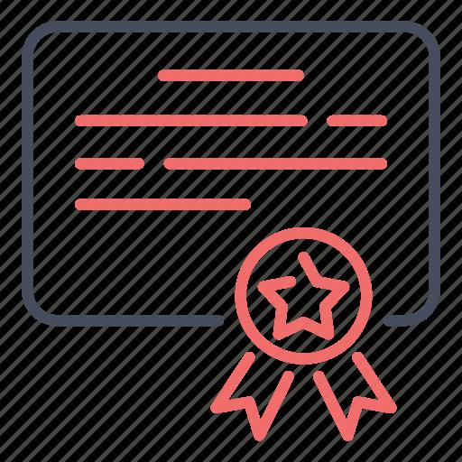 achievement, certificate, diploma, prize icon