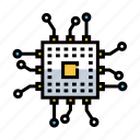 chip, circuit, connection, microchip, network, processor, technology icon