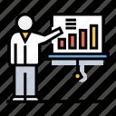 business, chart, development, presentation, presenting, professional, seminar icon
