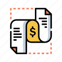 banking, bill, business, document, invoice, tax, taxation icon