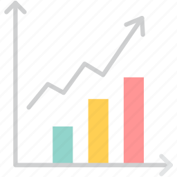 analytics, business, chart, graph, growth, line, statistics icon