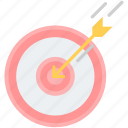 aim, arrow, dartboard, direction, goal, success, target icon