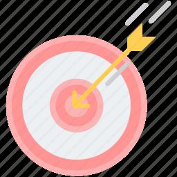 aim, arrow, dartboard, direction, goal, success, target icon