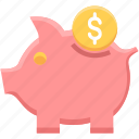 bank, banking, cash, finance, money, payment, piggy icon