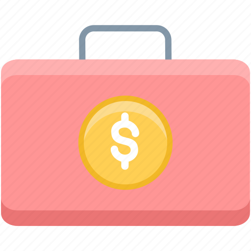 bag, briefcase, business, financial, money, office, suitcase icon