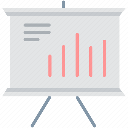 analytics, chart, diagram, graph, growth, official, presentation icon