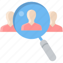 customer, employee, explore, find, male, search, seo icon