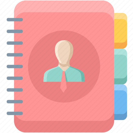 communication, contact, diary, folder, mobile, phone, telephone icon