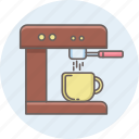 coffee, machine, maker, tea icon