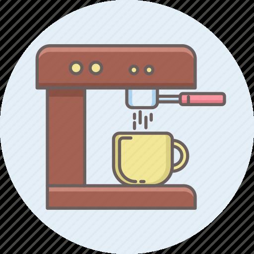 coffee, machine, maker, tea icon