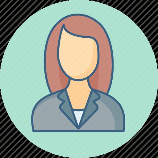 avatar, employee, female, lady, person, profile icon
