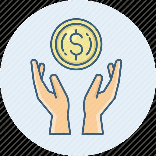dollar, growth, guardar, money, save icon
