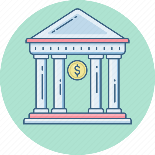 bank, financial institution icon
