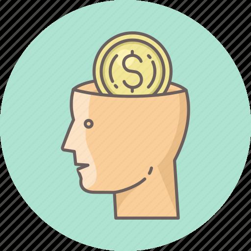 business, dollar, mind, minded, money icon