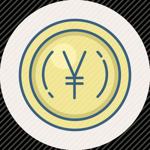 currency, money, yen, yuan renminbi icon