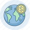 country, dollar, money, revenue icon