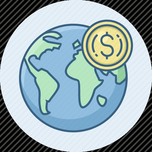 country, dollar, money, revenue icon