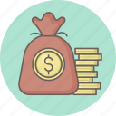 bag, growth, money icon