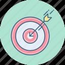aim, bullseye, dartboard, focus, goal, target icon