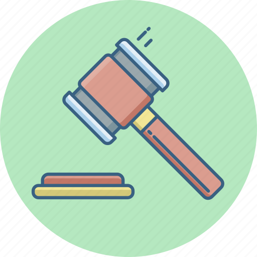 Judge, law, court, legal, justice, hammer icon