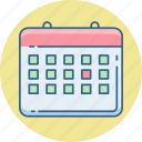 appointment, calendar, calender, date, event, month, schedule icon