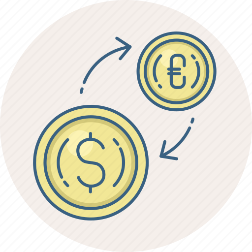 conversion, currency, exchange, finance, money, payment icon