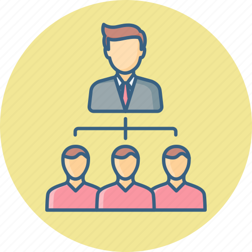 hierarcy, leader, male, organization, structure, team icon
