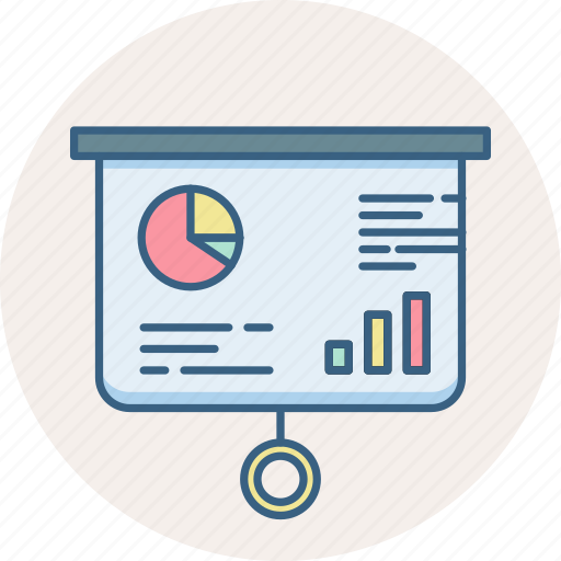 analysis, analytics, ppt, presentation, projector, report, statistics icon