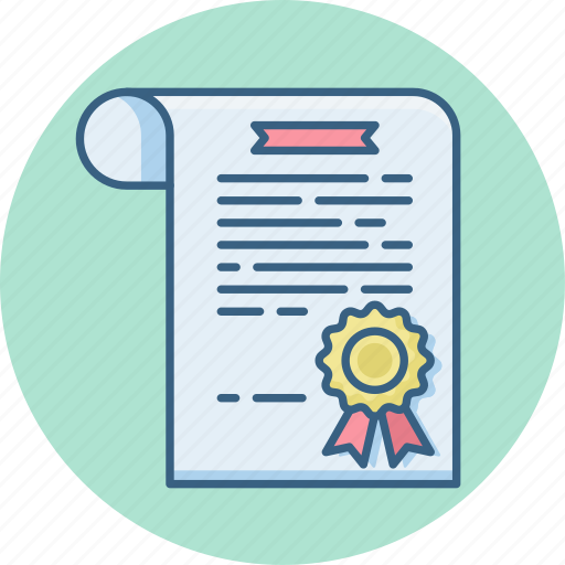 certificate, certification, document, documents, page, paper icon