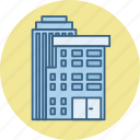 architecture, building, estate, house, office, property, real icon