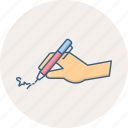 edit, pen, sign, signature, write icon
