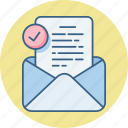 email, inbox, letter, mail, message icon