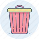 delete, garbage, recycle, remove, trash icon