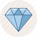 diamond, gem, jewel, jewelry, quality icon