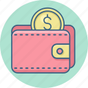 dollar, guardar, money, save, savings, wallet icon