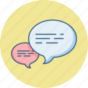 chat, comment, communication, feedback, message icon