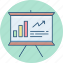 board, business, chart, graph, presentation icon