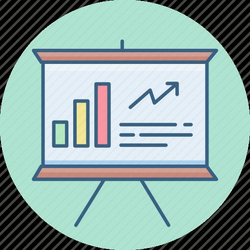 board, business, chart, graph, presentation icon