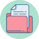 document, documents, folder, format, page, paper icon