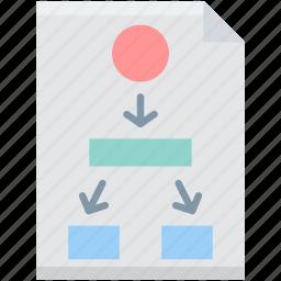 diagram, flowchart, project, scheme, tasks, usability, workflow icon
