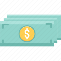 bundle, cash, dollar, money, paper money, papermoney icon