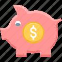 dollar, fund, funds, money, piggy bank, plan, savings icon